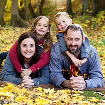 Chiropractor Newhall IA Dr. Jacob Pudenz and Family